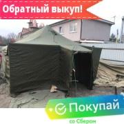Палатка брезентовая УСТ-56 зимняя (на металлических стойках)