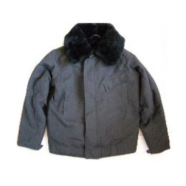Куртка танковая черного цвета утепленная