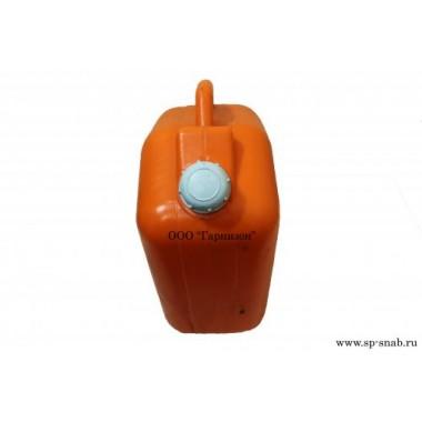 Канистра пластиковая 10 л оранжевого цвета