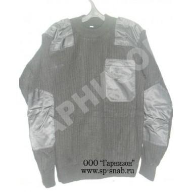 Свитер уставной защитного цвета с карманом